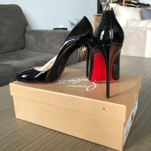 Christian Louboutin Black Patent Leather Dorissima